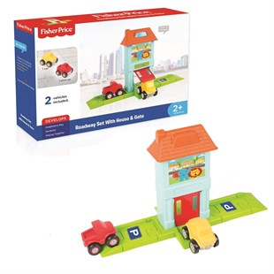 1824 FISHER PRICE ROADWAY SET with HOUSE - G
